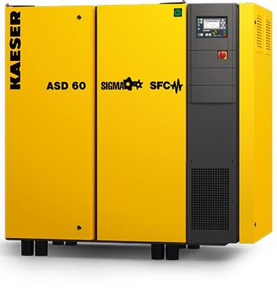 kaeser asd60 rotary screw compressor - plummer compressors