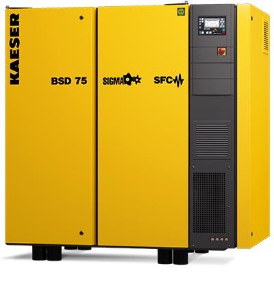 kaeser bsd75 rotary screw compressor - plummer compressors