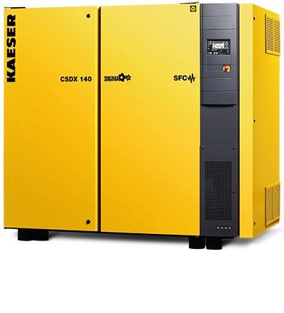 kaeser csdx140 sfc rotary screw compressor - plummer compressors