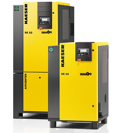 Kaeser sk22-sk25 aircenter air compressor - plummer compressors