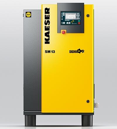 kaeser sm13 rotary screw compressor - plummer compressors
